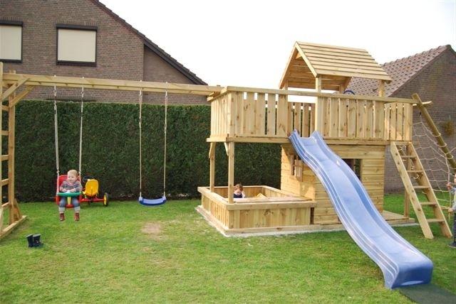speeltoestel balkon zandbak met grote zandbak. Black Bedroom Furniture Sets. Home Design Ideas