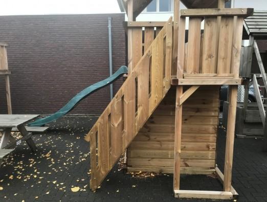Treppengeländer mit Zaun